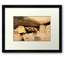 Rock and a hard place Framed Print