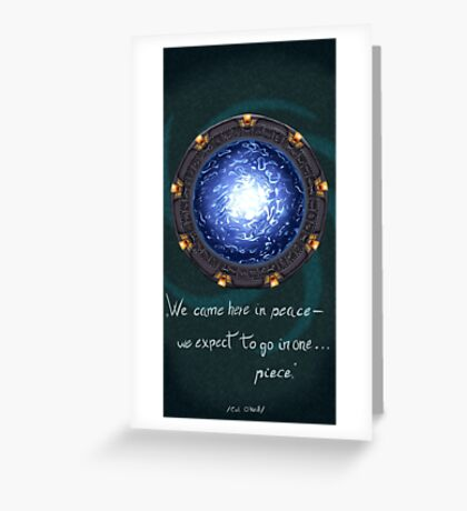 Stargate quote Greeting Card