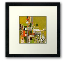 Olive green abstract III. Framed Print