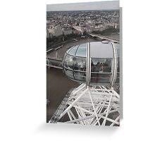 London Eye/Capsule(below us) -(260812)- Digital photo Greeting Card