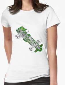 Goldleaf Lotus F1 Car Womens Fitted T-Shirt