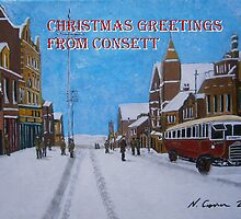 Consett of Old, Front Street, Snow by CrossanArt