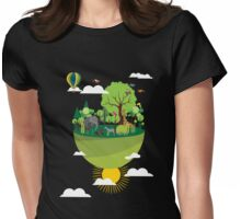 Floating island Womens Fitted T-Shirt