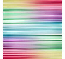 Linear Rainbow Design Photographic Print