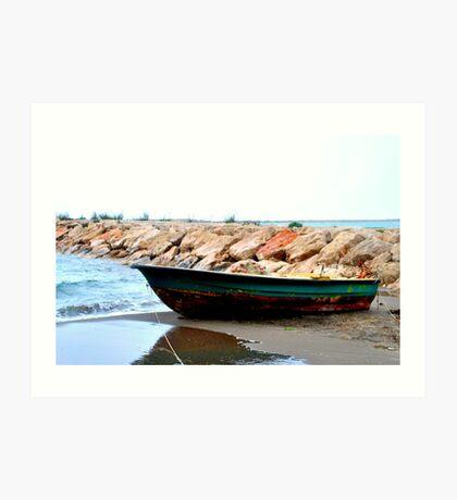 small fishing boat  Art Print