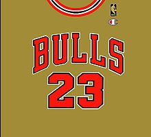 Michael Jordan Throwback Jersey Shirt (Gold Edition) by ColbyCo