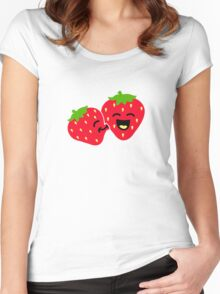 Strawberry Kiss Women's Fitted Scoop T-Shirt