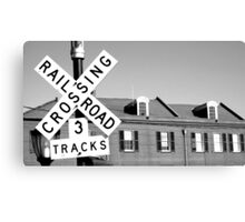New Orleans railroad crossing Canvas Print