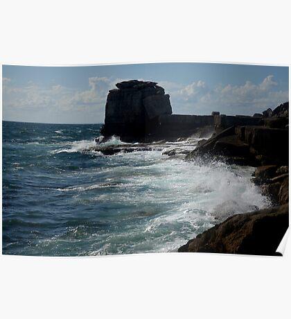 ragged coastline   Poster