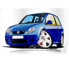 VW Lupo GTi Blue Poster