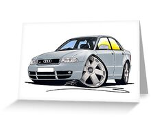 Audi S4 (B5) Silver Greeting Card