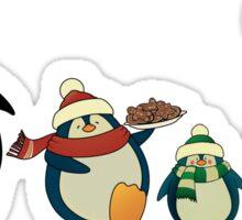 Penguin family greeting card Sticker