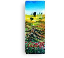 TUSCANY LANDSCAPE WITH POPPIES Canvas Print