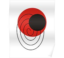 Red and Black Abstract Art Modern Ball Poster
