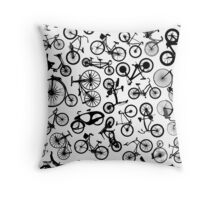 bike bikes Bicycle madness Throw Pillow