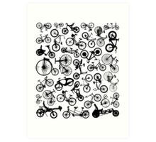 bike bikes Bicycle madness Art Print