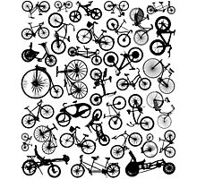 bike bikes Bicycle madness Photographic Print
