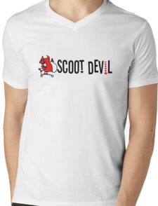 Scoot Devil (horizontal) Mens V-Neck T-Shirt