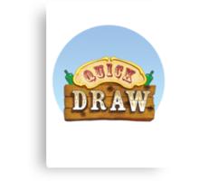 Quick Draw Canvas Print