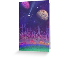 earth to space 1 by pickles Greeting Card