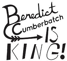 Benedict Cumberbatch is King! (B&W) by SuperDarkRose