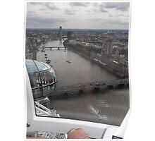 London Eye/Thames Riverside view -(260812)- Digital photo Poster