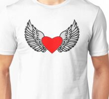 Feathered Wings and Heart Unisex T-Shirt