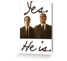 Yes. He is. Greeting Card