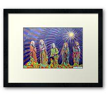 365 - THE PILGRIMS - DAVE EDWARDS - COLOURED PENCILS - 2012 Framed Print