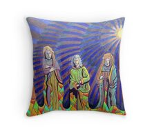 365 - THE PILGRIMS - DAVE EDWARDS - COLOURED PENCILS - 2012 Throw Pillow