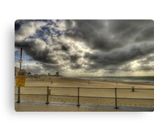 Breaking trough the clouds Canvas Print