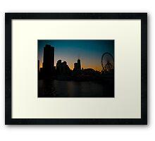 Windy City Sunset Framed Print
