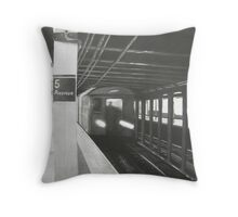 """Leaving 5th Avenue"" Throw Pillow"