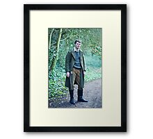 A walk in the woods. Framed Print