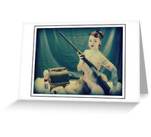 Typewriter Erotica Greeting Card