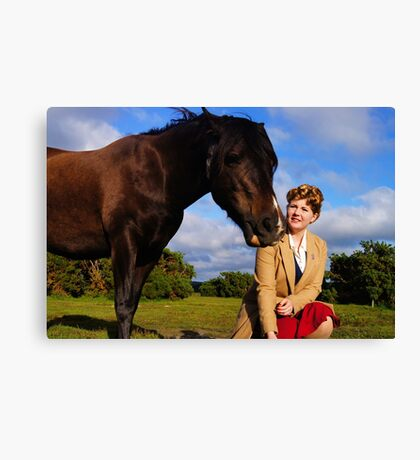 With the horses. Canvas Print