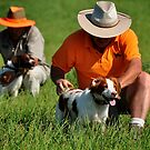 Brittany Spaniels in the Field by SamTheCowdog