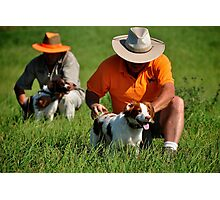 Brittany Spaniels in the Field Photographic Print