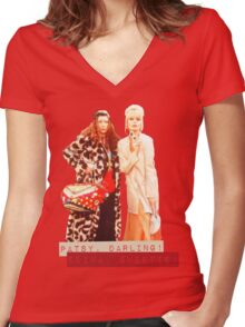 AB FAB Women's Fitted V-Neck T-Shirt