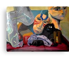 Still Life of Random Obejcts and Toys Canvas Print