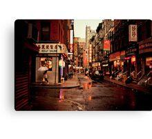 Rainy Afternoon - Chinatown - New York City Canvas Print