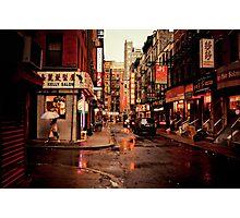 Rainy Afternoon - Chinatown - New York City Photographic Print