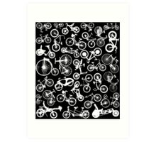 bike bikes Bicycle pattern Art Print