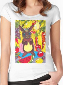 Yellow Rabbit Women's Fitted Scoop T-Shirt