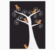 Five Orange Birds in a Tree Kids Clothes