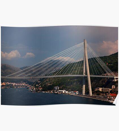 Franjo Tuđman Bridge Dubrovnik Poster
