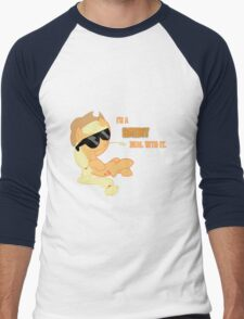 I'm a Brony Deal with it. (Apple Jack) - My little Pony Friendship is Magic Men's Baseball ¾ T-Shirt