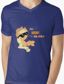 I'm a Brony Deal with it. (Apple Jack) - My little Pony Friendship is Magic Mens V-Neck T-Shirt