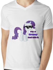 I'm a Brony Deal with it. (Rarity) - My little Pony Friendship is Magic Mens V-Neck T-Shirt