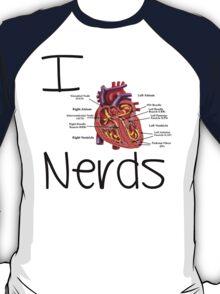 I heart nerds t-shirt or sticker T-Shirt